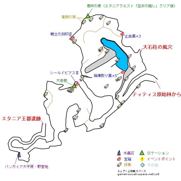 イース8 パンガイア大平原 攻略マップ