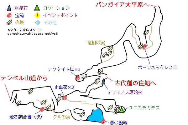イース8 ティティス原始林 攻略マップ